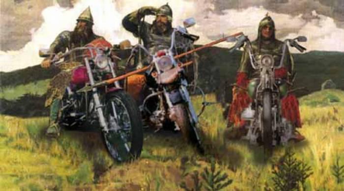 муниципальном три богатыря на мотоциклах картинка сша